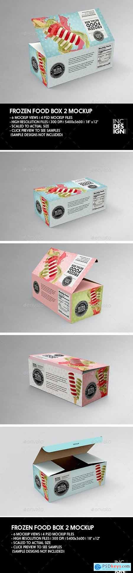 Big Frozen Food Box Packaging Mockup 29889156