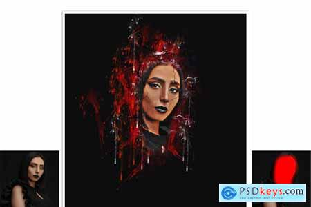 Crake Watercolor Photoshop Action 5679034