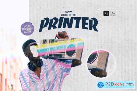 Vintage Offset Printer 5673346