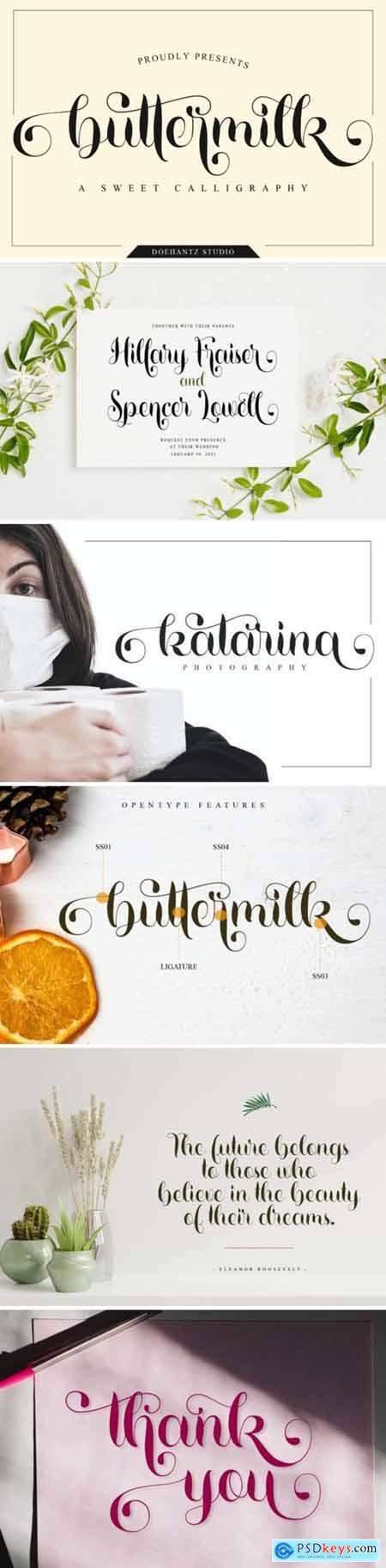 Buttermilk Font