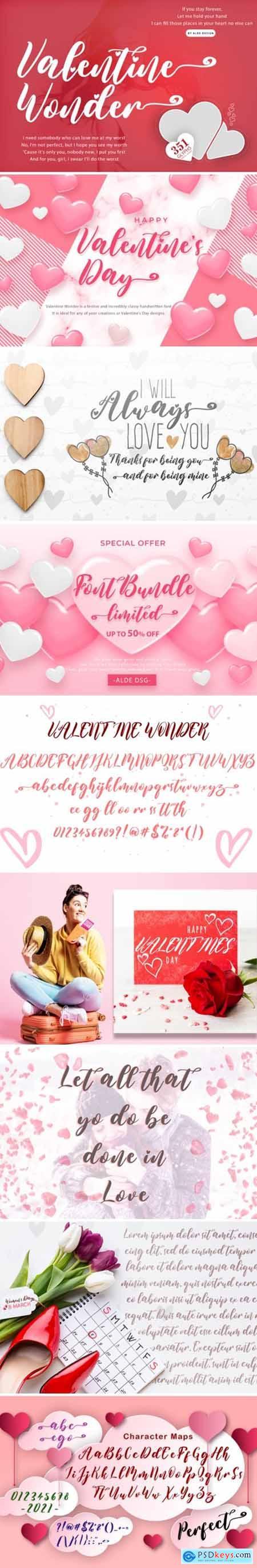 Valentine Wonder Font