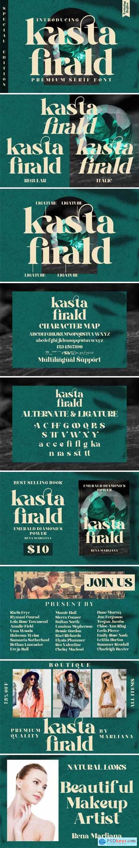 Kasta Firald Font