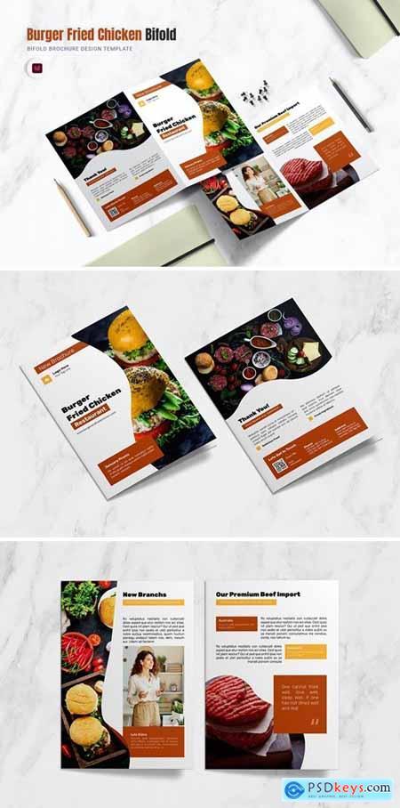 Burger Fried Bifold Brochure