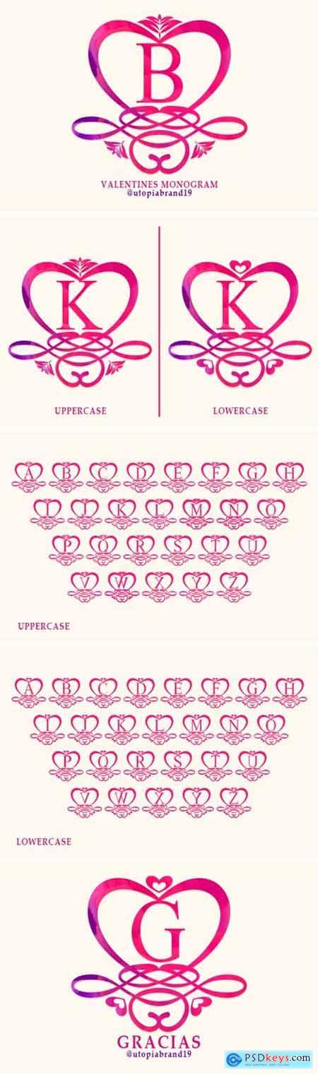 Valentines Monogram Font