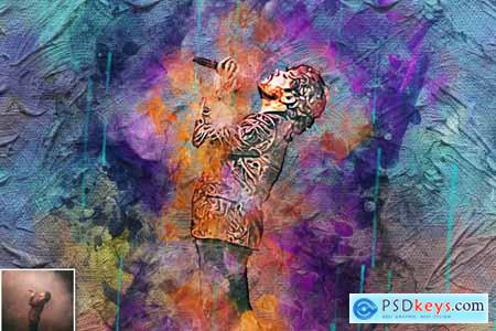 Canvas Paint Photoshop Action 5634725