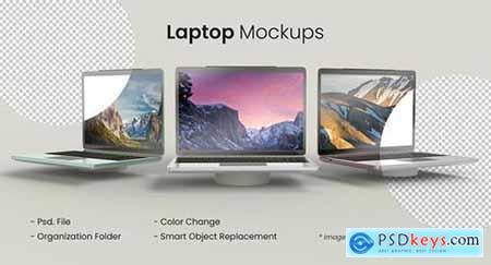 Three laptop mockup
