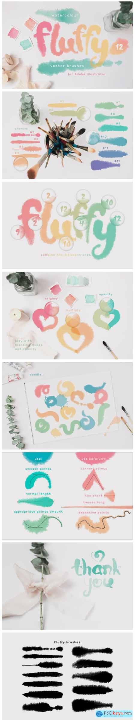 Fluffy Brushes for Illustrator 6682657