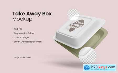 Takeaway food box mockup