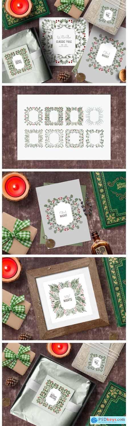 Vintage Christmas Clipart Frames - Yule 6682555