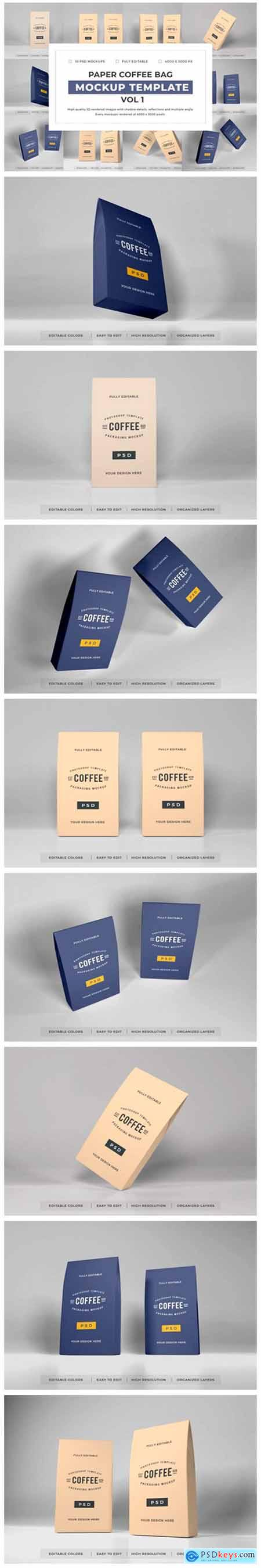 Paper Coffee Bag Mockup Bundle Vol 1 6703736