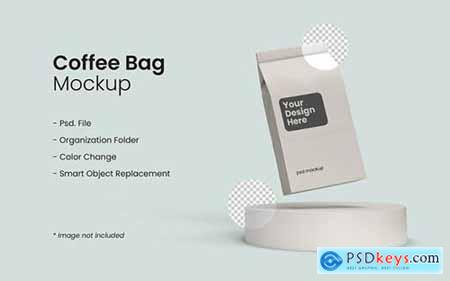 Coffee bag mockup
