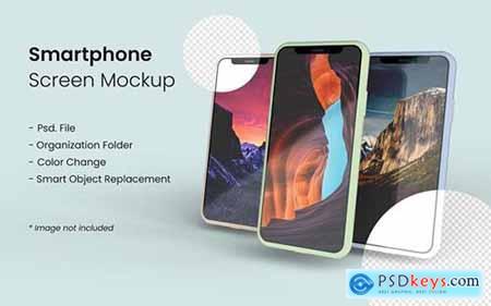 Three smartphone mockup