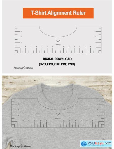 Tshirt Ruler SVG, T-shirt Alignment Tool 6548037