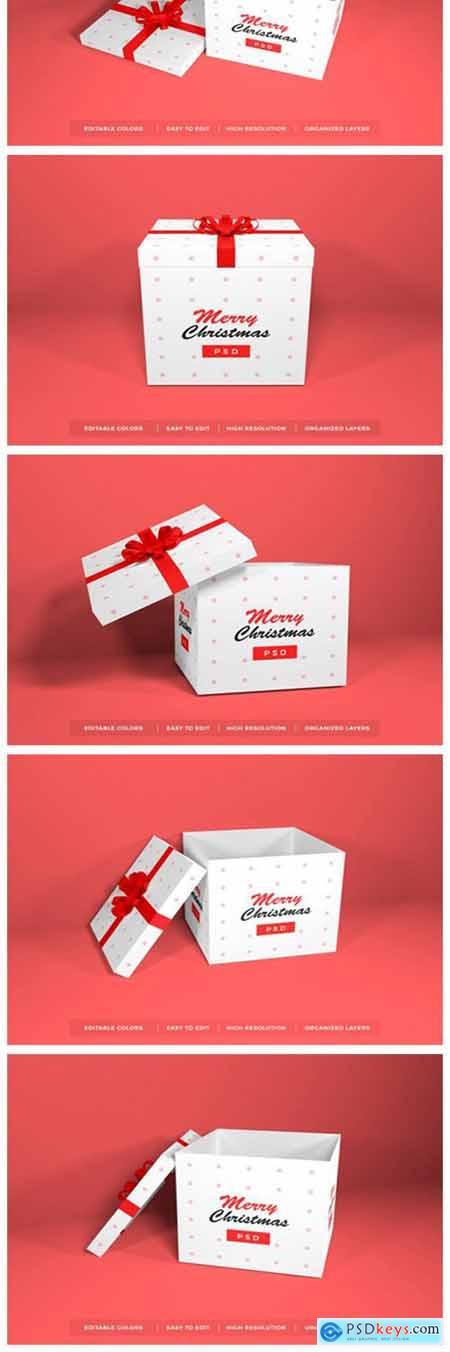 Christmas Gift Box Mockup Bundle Vol 1 6703168