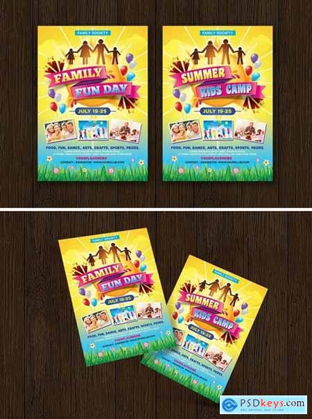 Family Fun Day- Summer Kids Camp Flyer