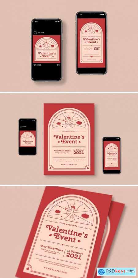 Valentine Event Flyer Set