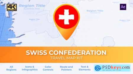 Switzerland Map - Swiss Confederation Travel Map 29973835