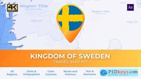 Sweden Map - Kingdom of Sweden Travel Map 29974161