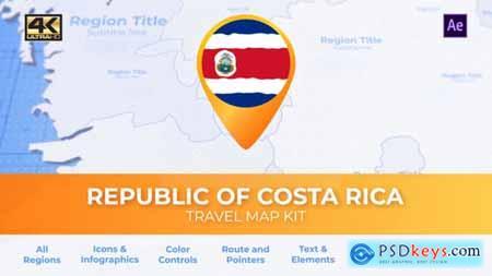 Costa Rica Map - Republic of Costa Rica Travel Map 29973955