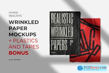Wrinkled Paper Mockup Collection 5344949