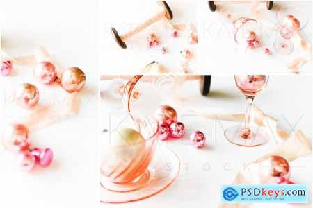 Pink Vintage Holiday Stock Photo Bun 5627260