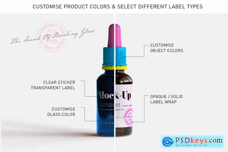 Dropper Bottle & Box Mock-Up - Vol.2 5295622