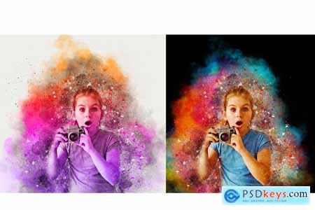 Color Dispersion Photoshop Action 5730753