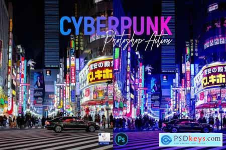 Cyberpunk - PSD action 5726360