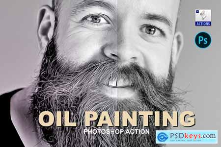 Oil painting - PSD action 5725154