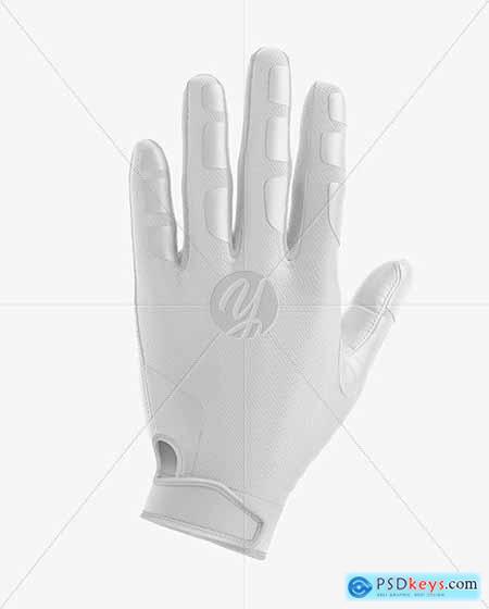 Football Glove Mockup - Back View 73035