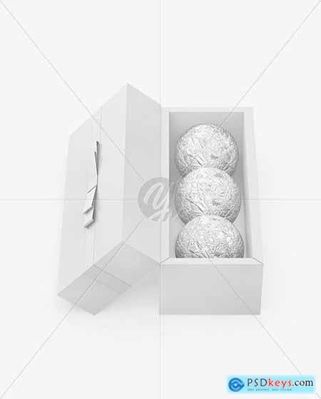 Box with Chocolates in Foil Mockup 73091