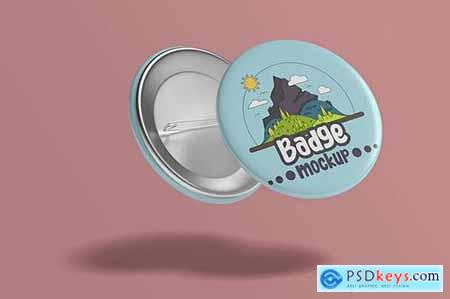 Pin Badge Mockup