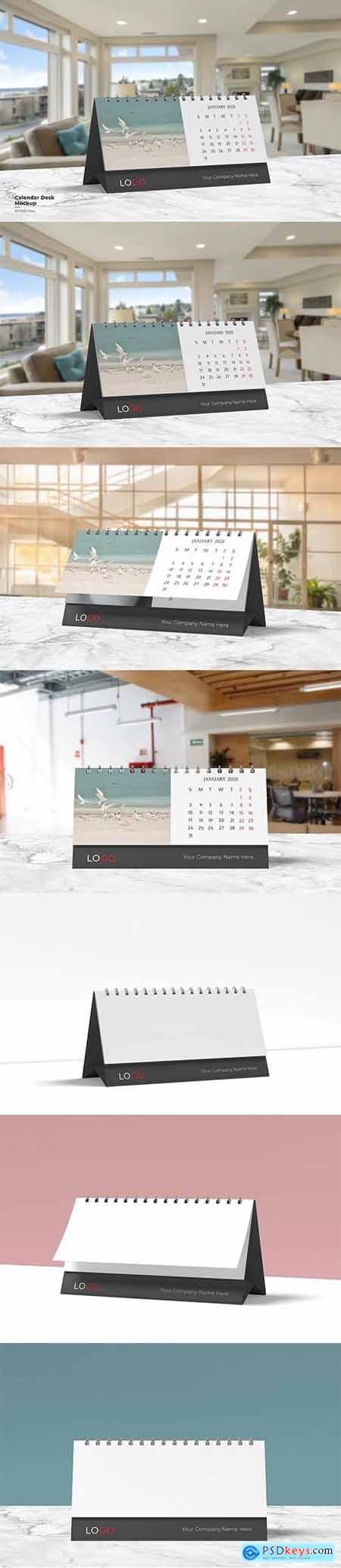 Realistic Calendar Desk Mockup
