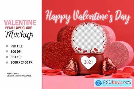 Valentines Day Love Globe Digital Photo Gift