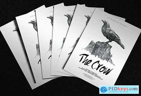 The Crow Illustrated Flyer Poster