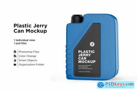Matte plastic jerry can mockup