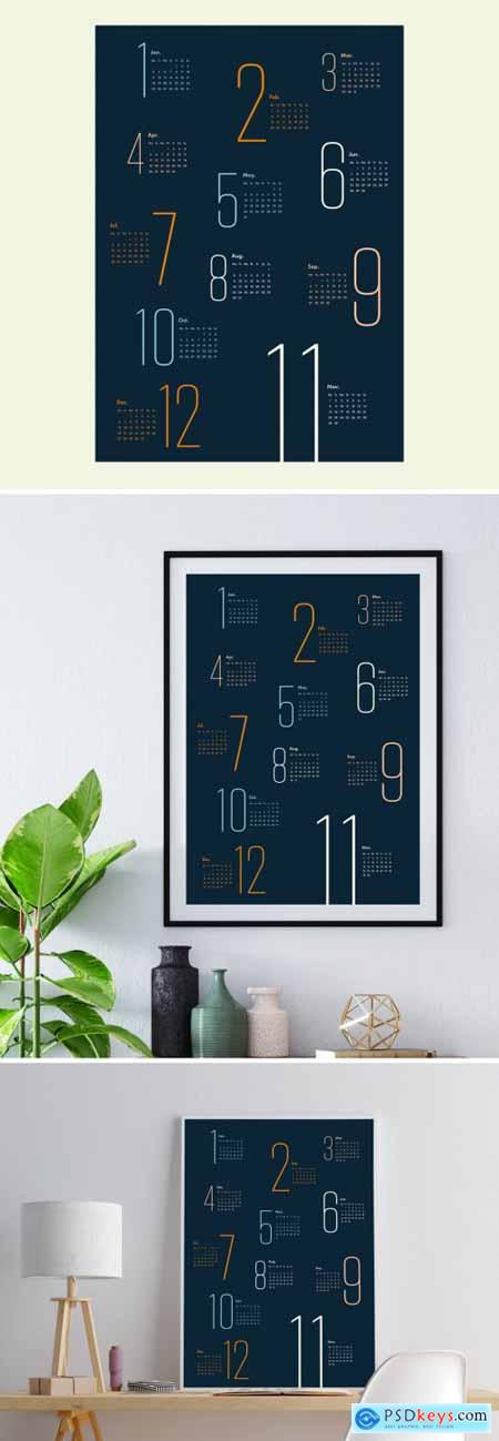 Colorful Calendar Layout 399838676