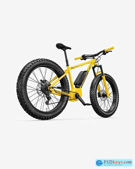 Fat Bike Mockup - Back Half Side View 71096
