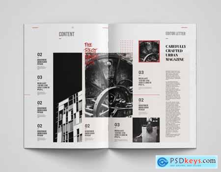 Megumi Kosa Magazine Template