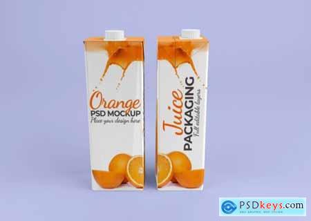 Juice packaging mockup