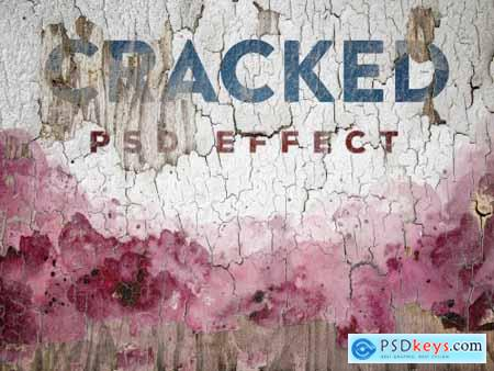Cracked Painted Texture Mockup 399641592