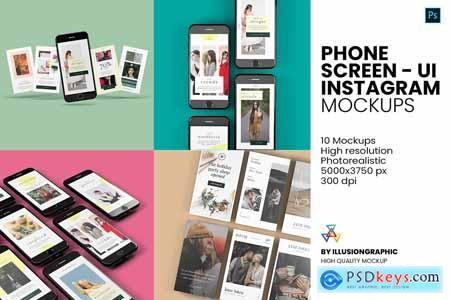 Phone Screen - UI - Instagram Mockup 5732128