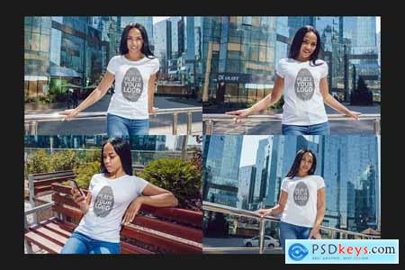 Girls T-Shirt Mock-Up Set 5536801