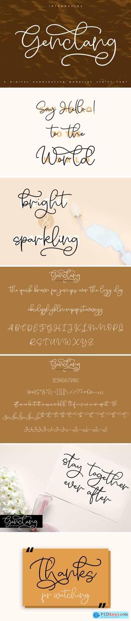 Genclang Font