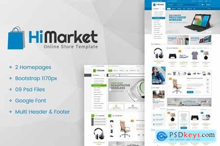 HiMarket - Multipurpose eCommerce PSD Template