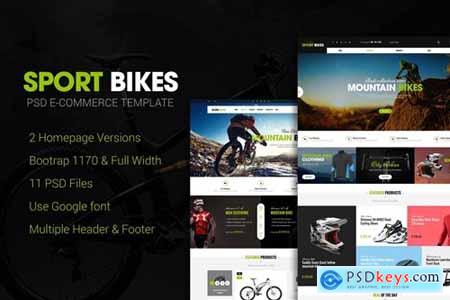 Sportbike - Multipurpose eCommerce PSD Template