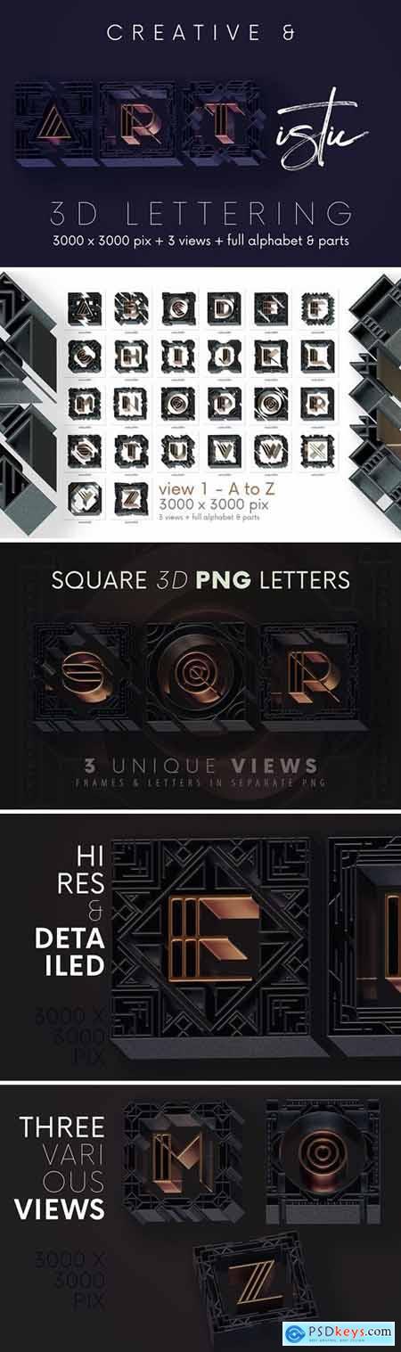 Artdeco Square - 3D Lettering
