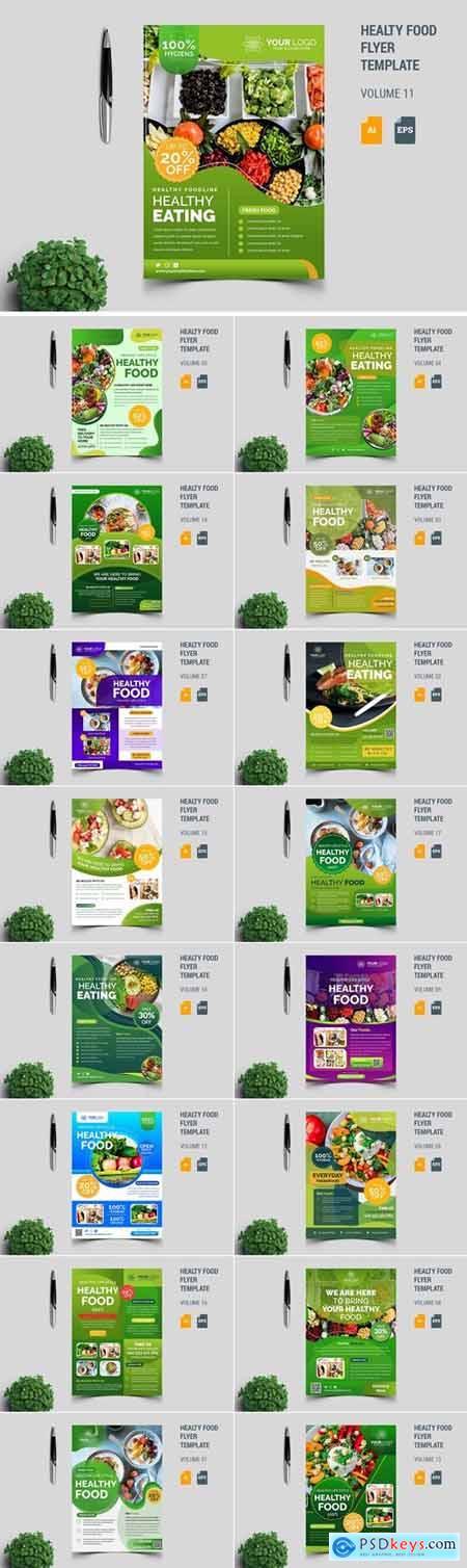 Healthy Food Flyer Template Bundle