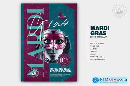 Mardi Gras Flyer Template V4 5764564