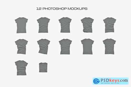 Gildan Ladies 64000 T-Shirt Mockups 5422912